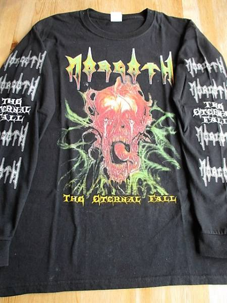 MORGOTH 長袖Tシャツ the eternal fall 黒M ロンT / death slayer sodom thanatos gorguts