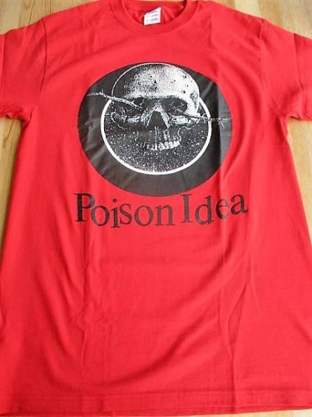 POISON IDEA Tシャツ american leather 赤M / black flag minor threat bad brains