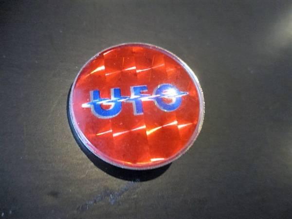UFO メタルピンバッジ デッドストック ヴィンテージ 赤 / judas priest accept msg scorpions metallica