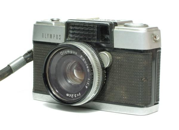 昭和レトロ OLYMPUS PEN-D オリンパス ペン D / F.Zuiko 1:1.9 f=3.2cm ハーフサイズ フイルムカメラ ジャンク品_画像3