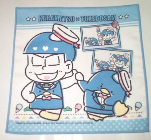 おそ松さん サンリオカフェ 大阪限定 マイクロファイバークロス カラ松 マイクロファイバータオル グッズの画像