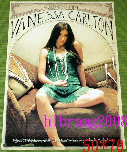 Vanessa Carlton ヴァネッサ・カールトン Harmonium 告知ポスター