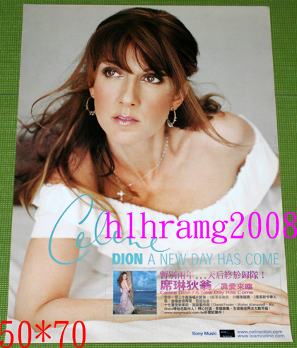 Celine Dion セリーヌ・ディオン A new day has come 告知ポスター
