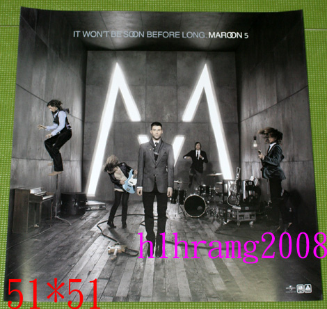 Maroon 5 マルーン5 It Won't Be Soon Before Long 告知ポスター
