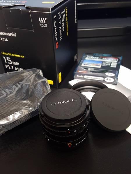 ★極上/新品同様 Panasonic Leica DG SUMMILUX 15mm/F1.7 ASPH. ブラック H-X015-K 単焦点 パナソニック・ライカ