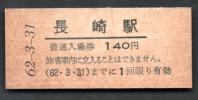 (長崎本線)長崎駅140円
