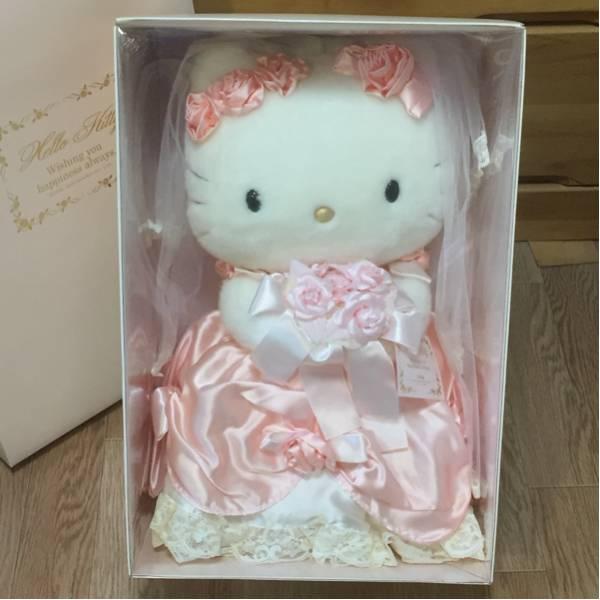 ハローキティ vivitix ウェディングドール(大) ピンク バラ ぬいぐるみ 2000年 グッズの画像
