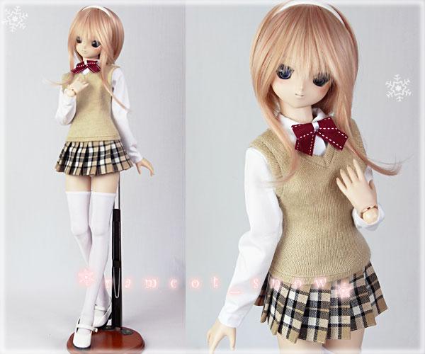 *ramcot*DD M胸用お洋服*School Girls Style*Beige*3set
