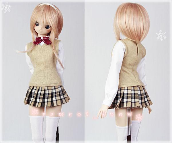 *ramcot*DD M胸用お洋服*School Girls Style*Beige*3set_画像2
