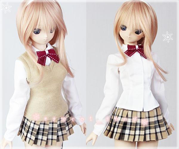 *ramcot*DD M胸用お洋服*School Girls Style*Beige*3set_画像3
