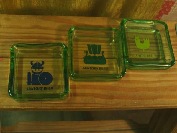 デッドストックレトロビンテージ70s 当時物 サントリー ビール ノベルティ バイキング柄 グラス トレイ 検 小物入れ アクセ入れ 灰皿