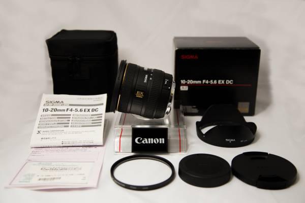 【美品】CANON用 超広角レンズ SHIGMA 10-20mm F4-5.6 EX DC HSM