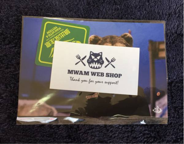 MAN WITH A MISSION MWAM マンウィズ ポストカード② ステッカー緑