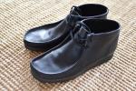 クラークス clarks ワラビーブーツ walabee boots uk9.5 us10 28cm 黒レザー