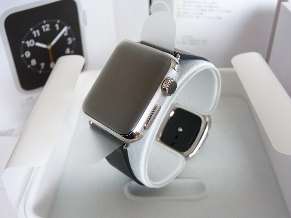 ★新品同様 Apple Watch 38mm ブラックモダン Lサイズ★