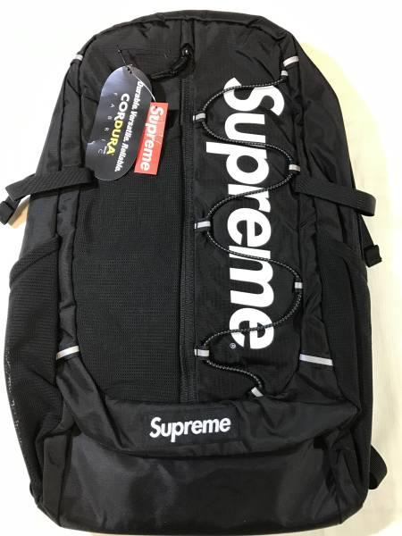 新品 17SS SUPREME CORDURA RIPSTOP NYLON BACKPACK バッグパック 黒 20L リュック BLACK 536