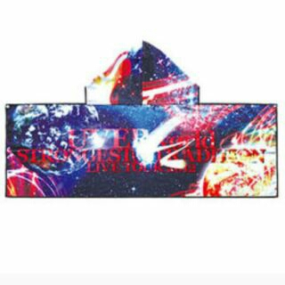 UVERworld マイクロファイバーフードタオル(ライブハウス) ライブグッズの画像