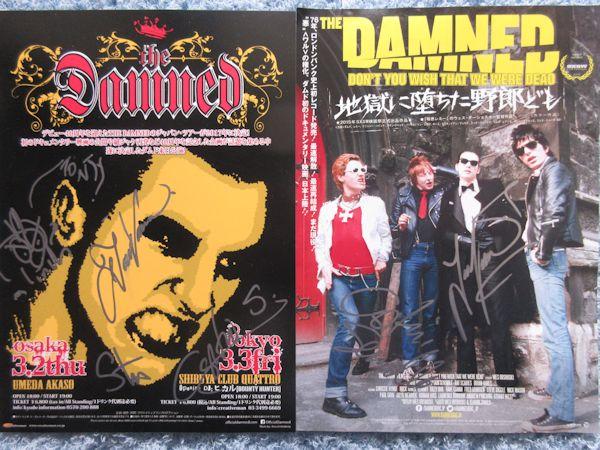 ◇ダムド/DAMNED 直筆サイン入りCD&チラシ2枚!