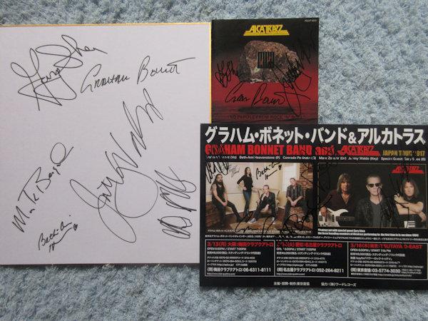 ☆アルカトラス 直筆サインCD+グラハムボネットバンド直筆サイン色紙&チラシ!