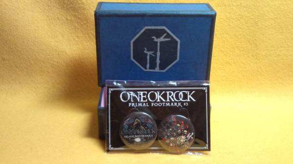 ワンオクロック ONE OK ROCK PRIMAL FOOTMARK #3 プライマルフットマーク 缶 カン バッジ 現品限り