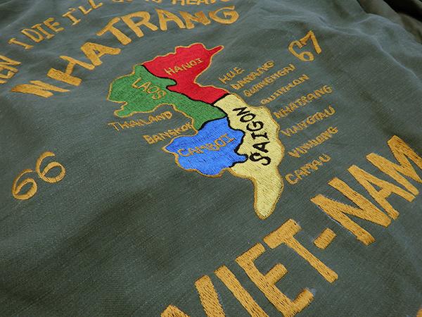 刺繍入りミリタリー・ユーティリティシャツ×4枚セット/スカシャツ/ベトシャツ/スーベニア/中古_画像3