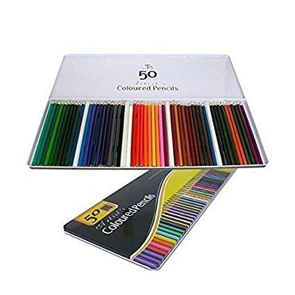 新品 50本色えんぴつ 塗り絵やスケッチ・お絵描きに! きれいな色味が勢揃い 50本色鉛筆_画像1