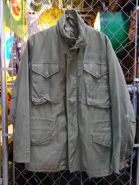 実物 M-65 ミリタリージャケット ビンテージ コンマーアルミジップ