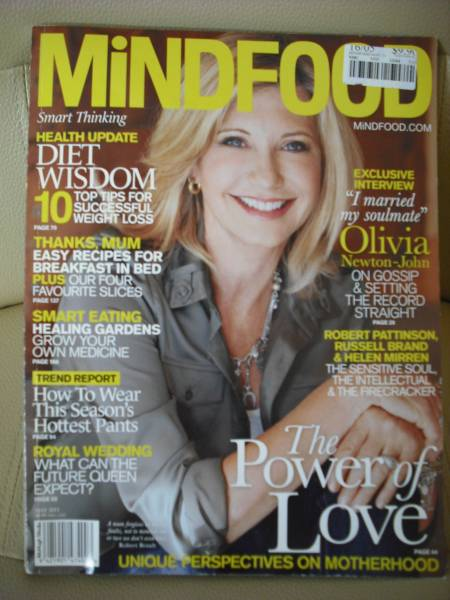 オリビアニュートンジョン  MiNDFOOD 2011.3 外国雑誌