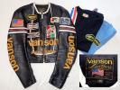 【vanson】バンソン★別注★シングルライダースジャケット★40★おまけTシャツ2枚★ワッペン ワンスター