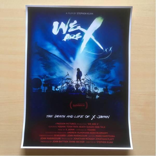 【送料無料!】WE ARE X ポスター 海外版 レア X JAPAN YOSHIKI Wembley ウェンブリー ウエンブリー HIDE