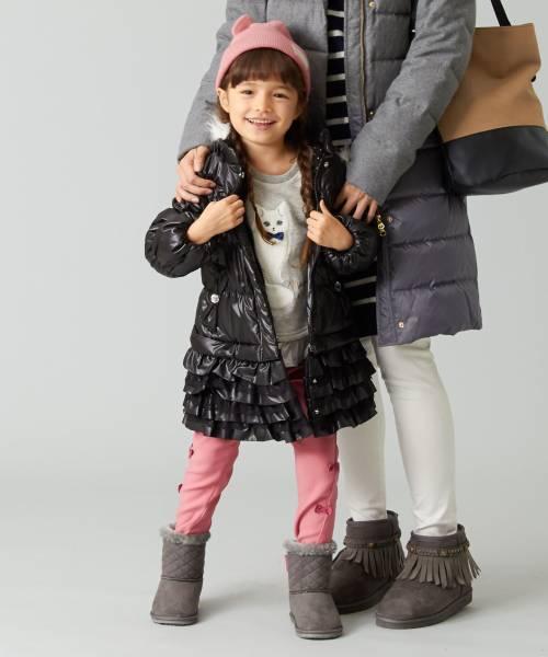 新品 4ways ¥7981 組曲 anyFAM ファー付き フード付き 4ウェイ ブルゾン ロングコート 120cm 子供用 女の子 ブラック 黒