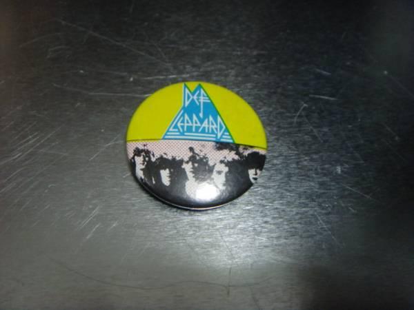 ビンテージ80's デッドストックDef Leppardデフ レパード缶バッチOLDオールド ピンズ