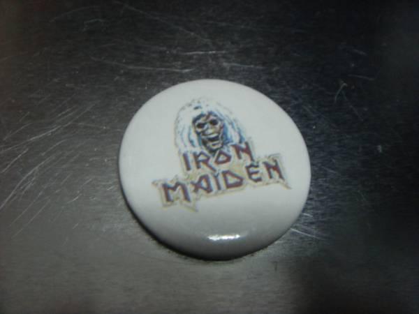 ビンテージ80's DEADデッドストックIRON MAIDENアイアン・メイデン缶バッチOLDオールド ピンズ
