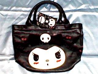 クロミ kuromi ミニ手さげバッグ (リボン) バッグ 新品 鞄 サンリオ サンリオ 激レア 今では入手困難品 グッズの画像