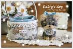 Reity*パピーヨークシャテリア&バッグ♪羊毛フェルト毛糸 ハンドメイド ドールハウス ヨーキー犬