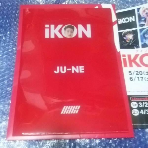 【即決】iKON ジュネver. ラフォーレ原宿 限定 クリアファイル POP UP SHOP  ライブグッズの画像