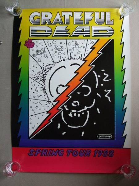 1988年 GRATEFUL DEAD SPRING TOUR POSTER × Peter Max  グレイトフル・デッド × ピーターマックス ビンテージ 当時物 San Francisco_1988年 GRATEFUL DEAD SPRING TOUR POSTER
