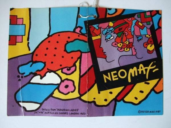 1987年 Peter Max / NEO max / ペーパーラベル 紙タグ 当時物 ネオ・マックス ピーターマックス 希少_NEO MAX ペーパーラベル 1987