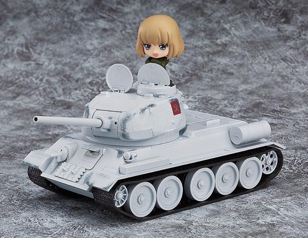ガールズ&パンツァー ねんどろいどもあ T-34/85 冬季迷彩Ver. グッズの画像