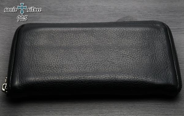 【本物・美品】クロムハーツ REC F ZIP ウォレット プレーン ヘビーレザー 長財布