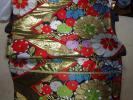 金襴緞子の袋帯 朱子織