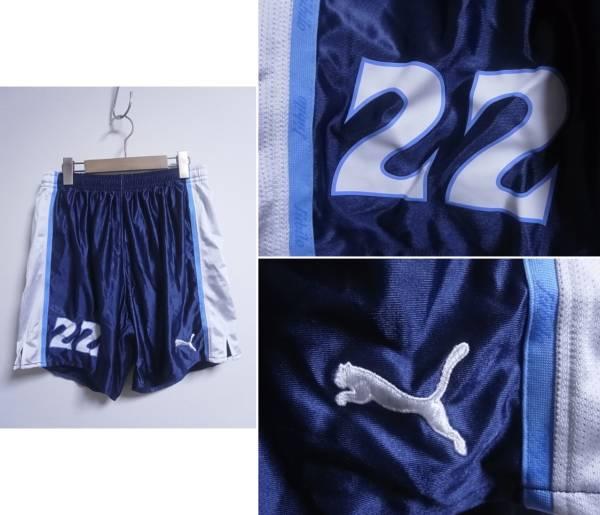 15998★プーマ Puma ジュビロ磐田 インナー付きサッカーパンツ No22 紺×白☆2XO