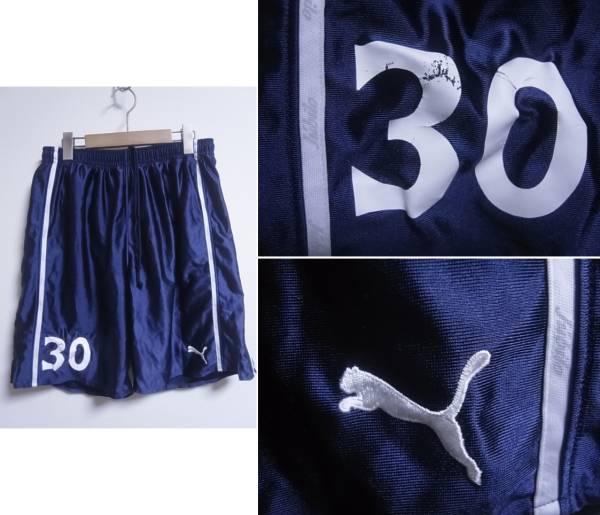 15999★プーマ Puma ジュビロ磐田 インナー付きサッカーパンツ No30 紺☆2XO