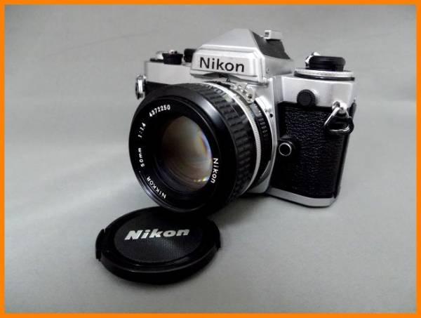 【USED/1円~】 Nikon NIKKOR 50mm 1:1.4 + FEボディ