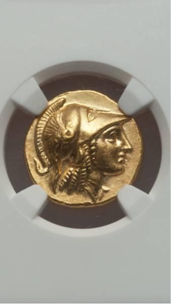 古代ギリシャ金貨 MS★ 紀元前330年~320年 アレキサンダー大王_画像2