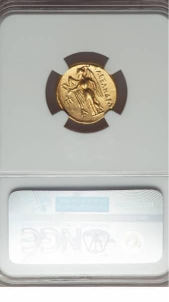 古代ギリシャ金貨 MS★ 紀元前330年~320年 アレキサンダー大王_画像3