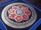 卍仏教美術 『肉筆 八吉祥 曼荼羅 金剛杵』35cm チベット 仏画 2
