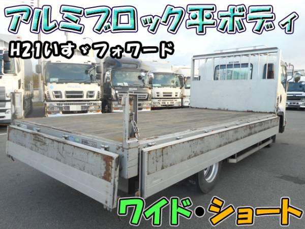 H21いすゞフォワード アルミブロック平ボディ ワイド・ショート#K9323_画像2