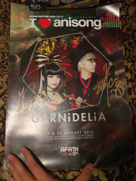 GARNiDELiA直筆サイン入りポスター Anime Festival Asia Thailand来場者限定特典