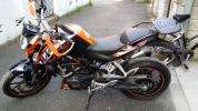 KTM 200 DUKE デューク アクラポビッチマフラー ハンドガード付属